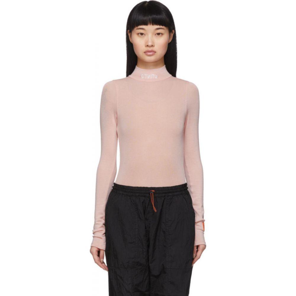 ヘロン プレストン Heron Preston レディース ボディースーツ インナー・下着【Pink 'Style' Turtleneck Bodysuit】Pink