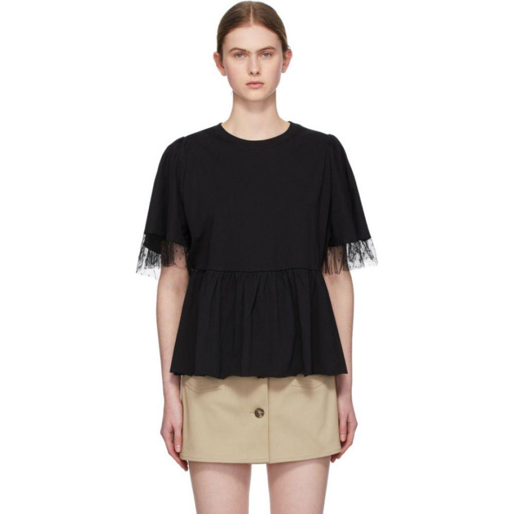 ヴァレンティノ RED Valentino レディース Tシャツ トップス【Black Tiered T-Shirt】Black