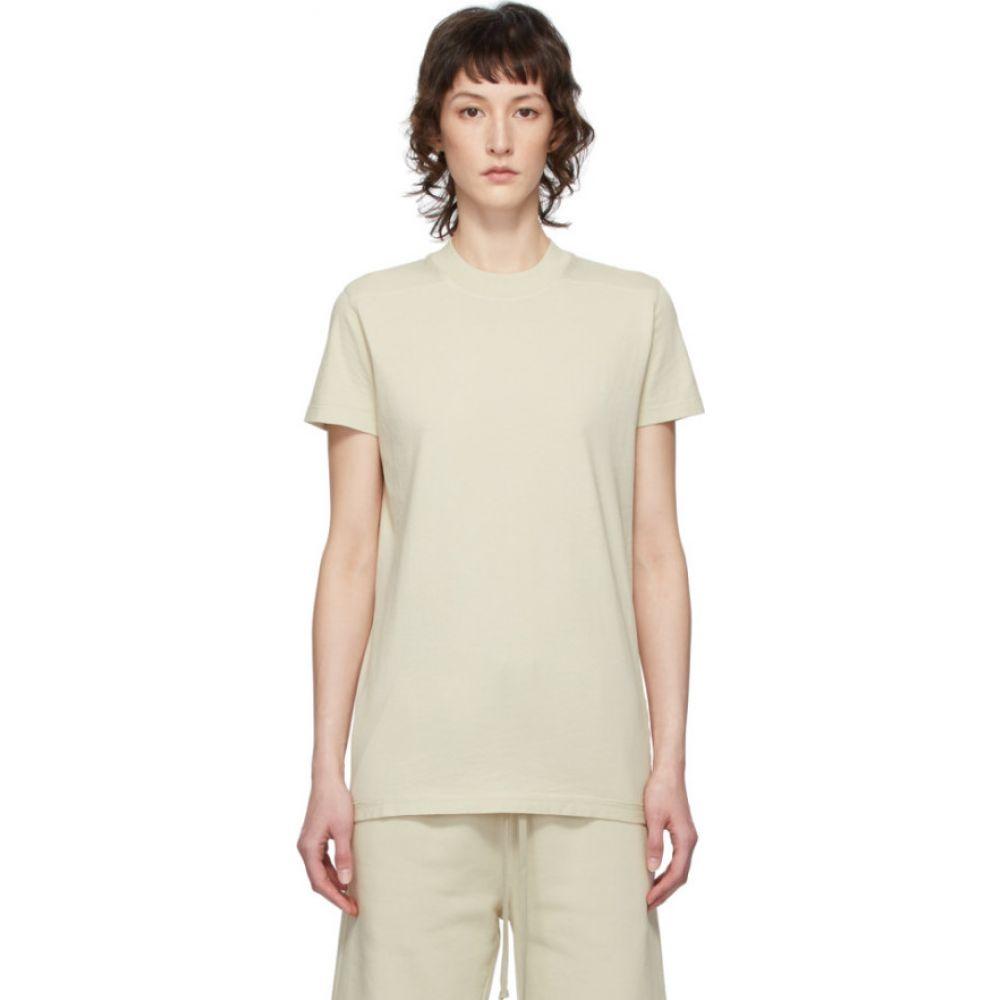 リック オウエンス Rick Owens Drkshdw レディース Tシャツ トップス【Beige Level T-Shirt】Pearl