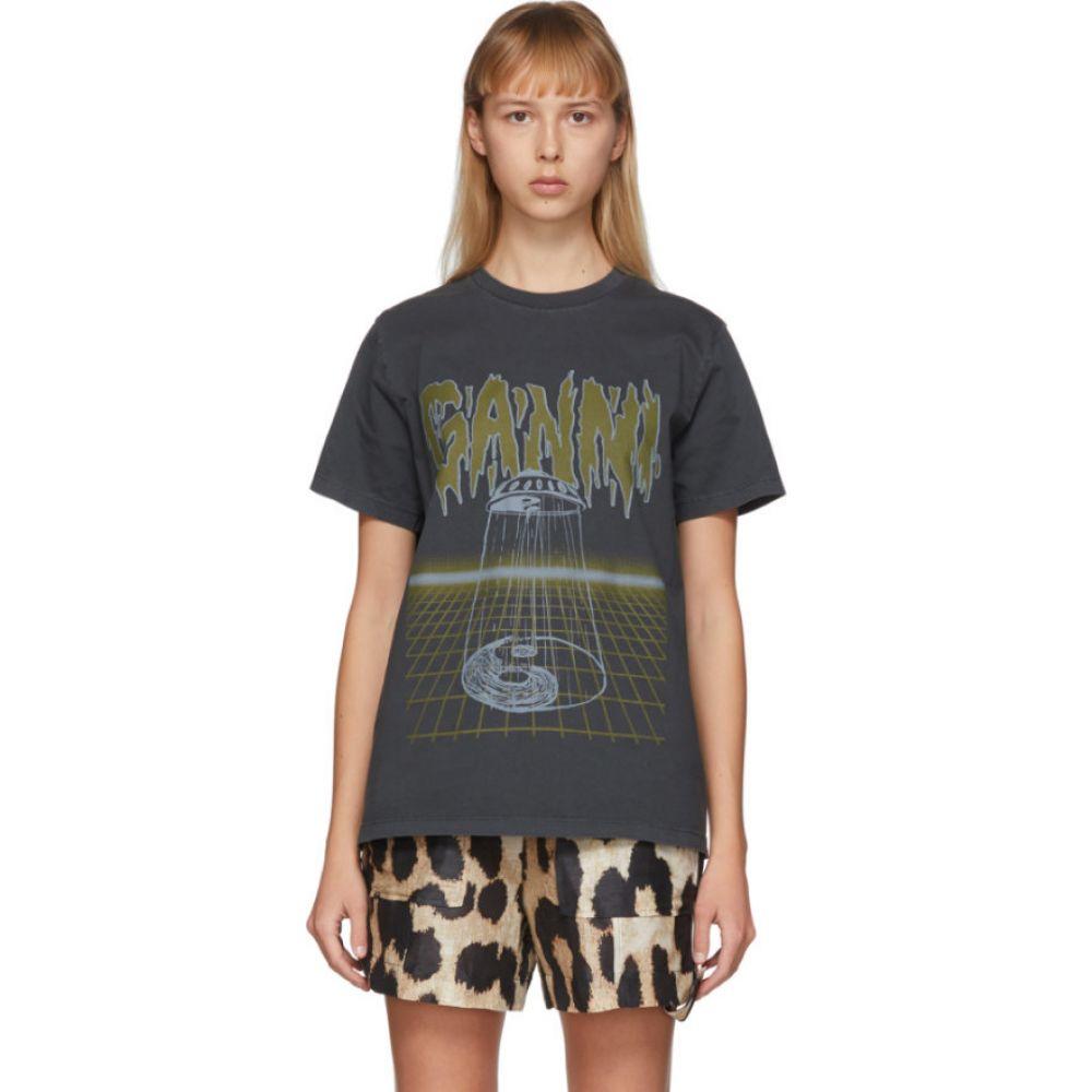 ガニー GANNI レディース Tシャツ トップス【Grey Alien Logo T-Shirt】Phantom