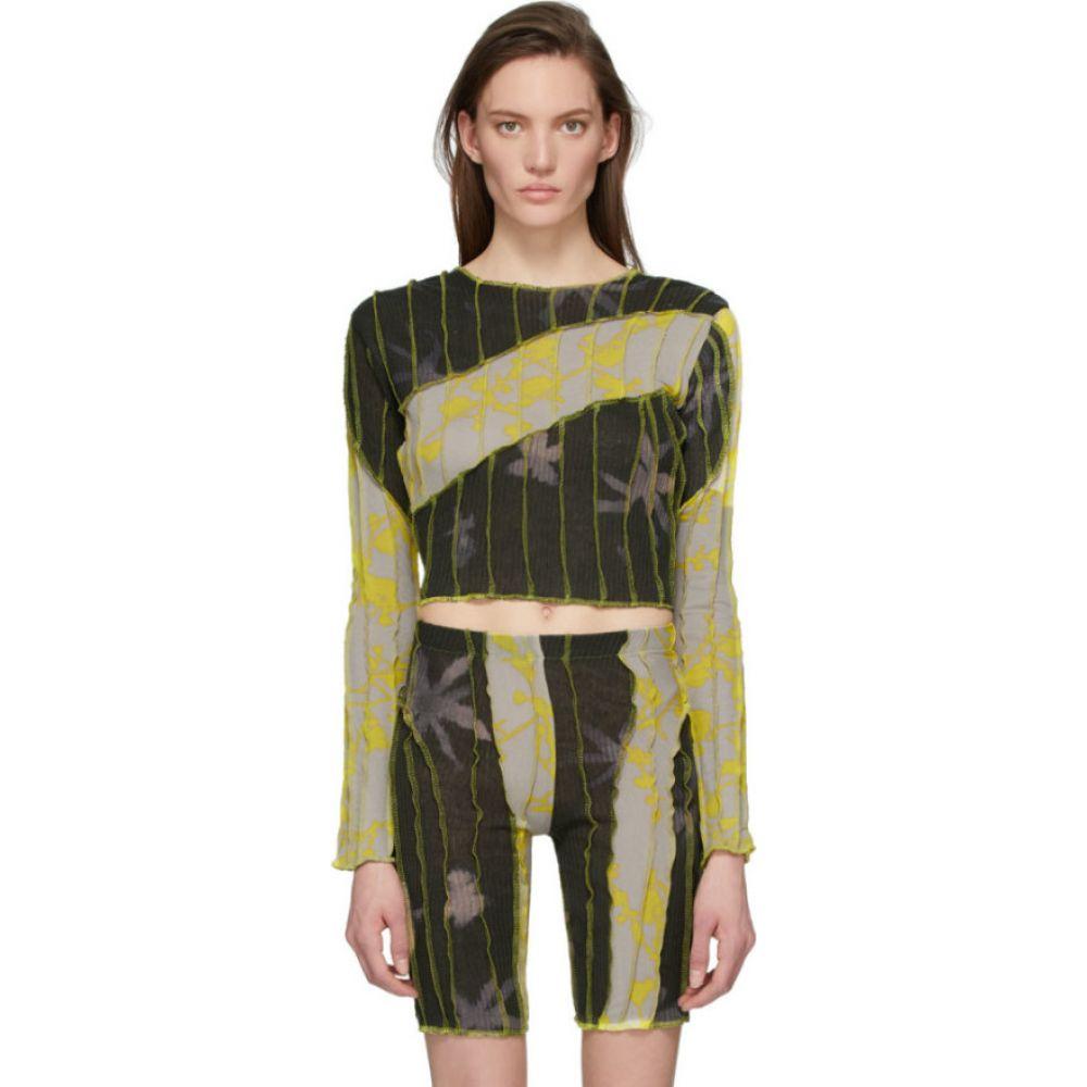 ヘレナマンツァーノ Helenamanzano レディース Tシャツ トップス【SSENSE Exclusive Grey & Yellow Anemone T-Shirt】Mouldy