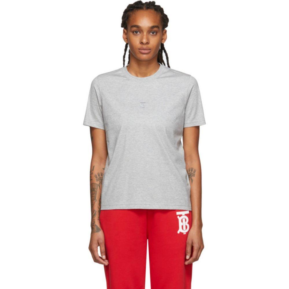 バーバリー Burberry レディース Tシャツ トップス【Grey Dovey T-Shirt】Pale grey