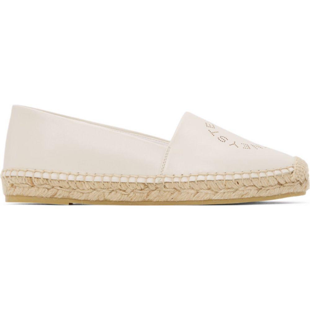 ステラ マッカートニー Stella McCartney レディース エスパドリーユ シューズ・靴【White Selene Logo Espadrilles】White