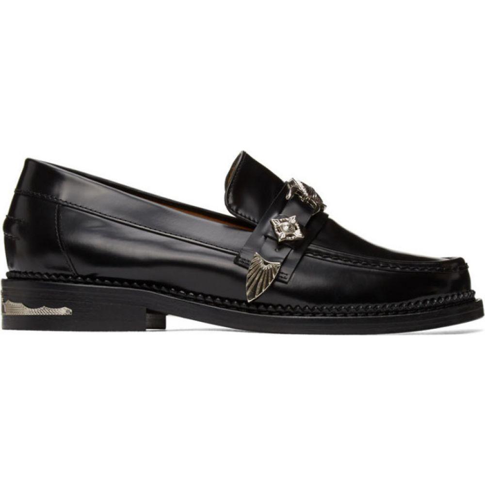 トーガ Toga Pulla レディース ローファー・オックスフォード シューズ・靴【Black Leather Loafers】Black