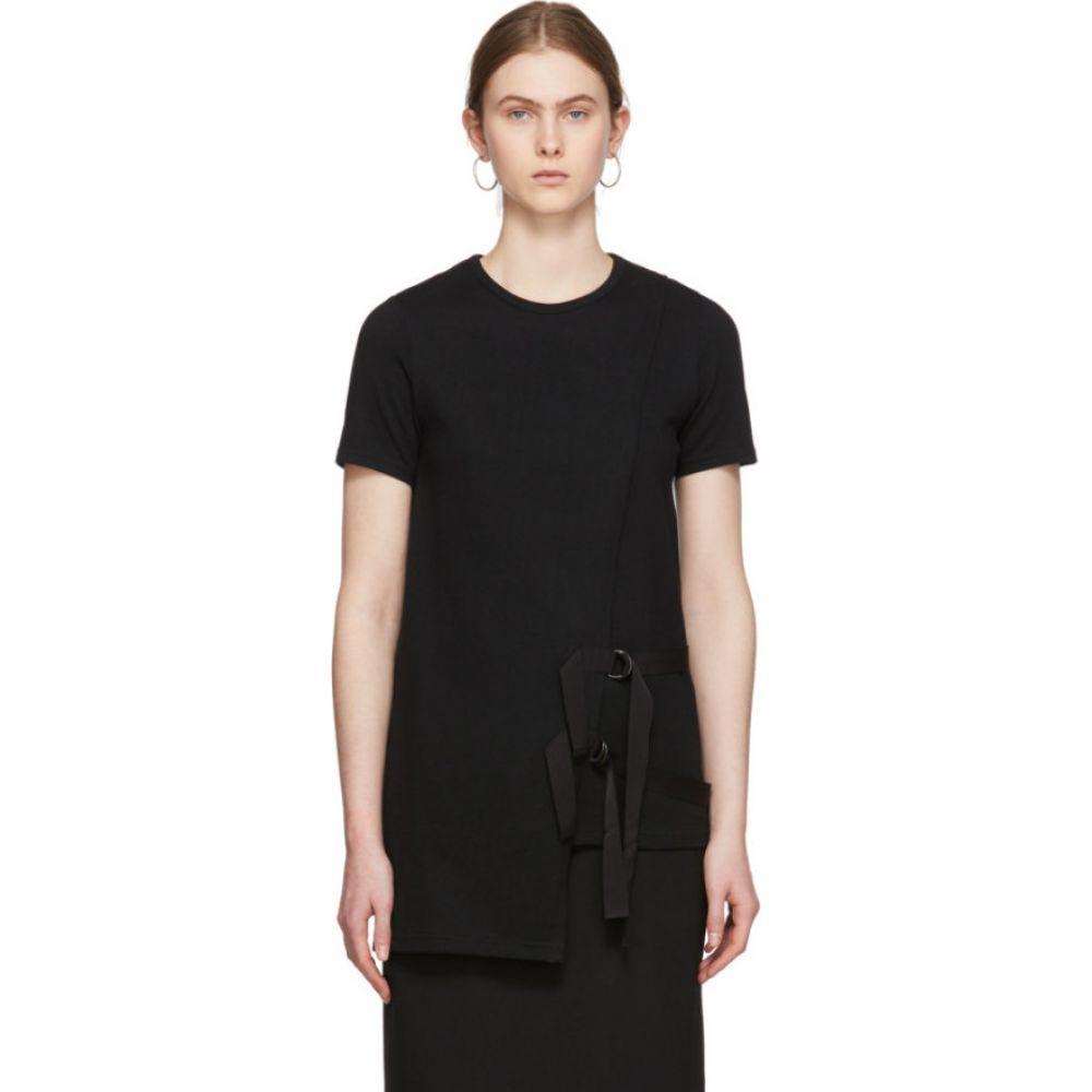 ヨウジヤマモト Yohji Yamamoto レディース Tシャツ トップス【Black Grosgrain D-Ring T-Shirt】Black