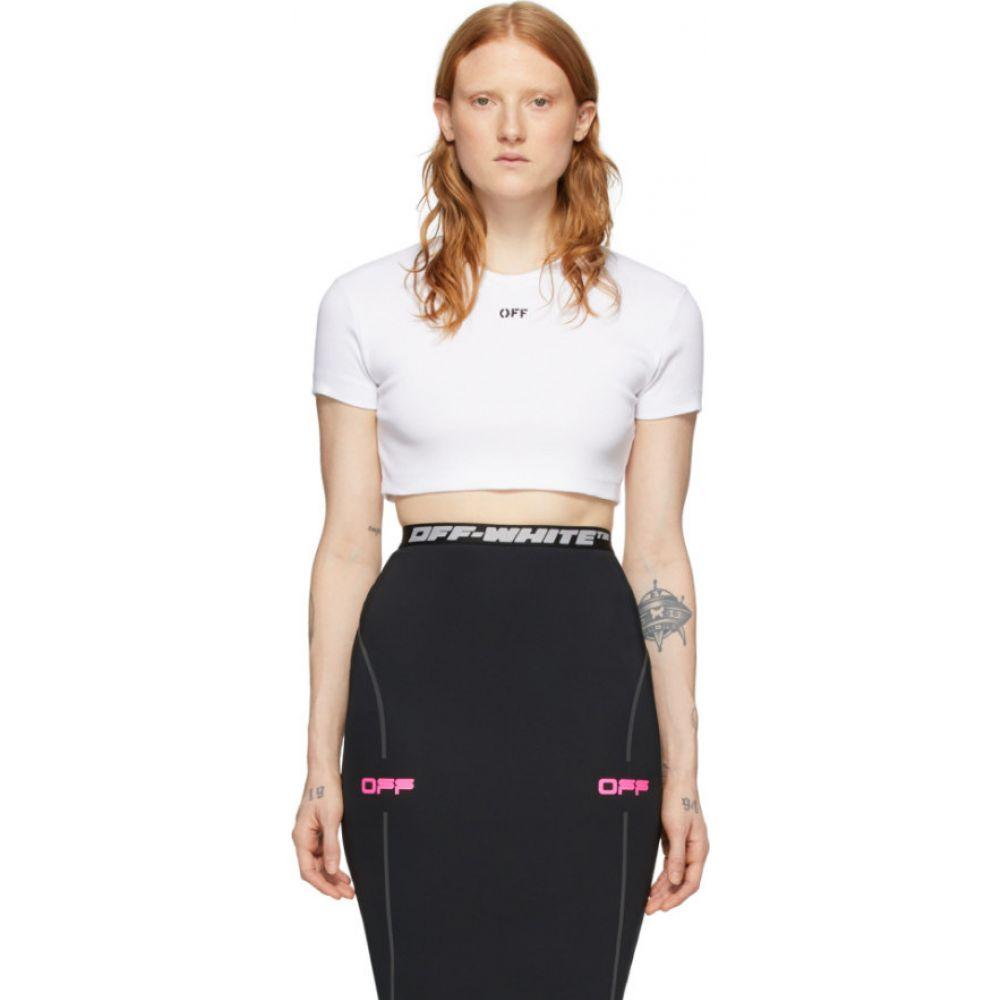 オフホワイト Off-White レディース Tシャツ トップス【SSENSE Exclusive White Rib T-Shirt】White