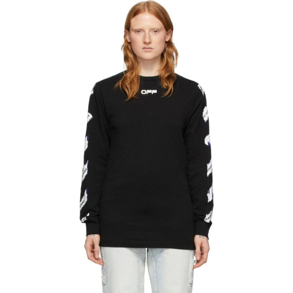オフホワイト Off-White レディース 長袖Tシャツ トップス【Black Airport Long Sleeve T-Shirt】Black/Multicolor