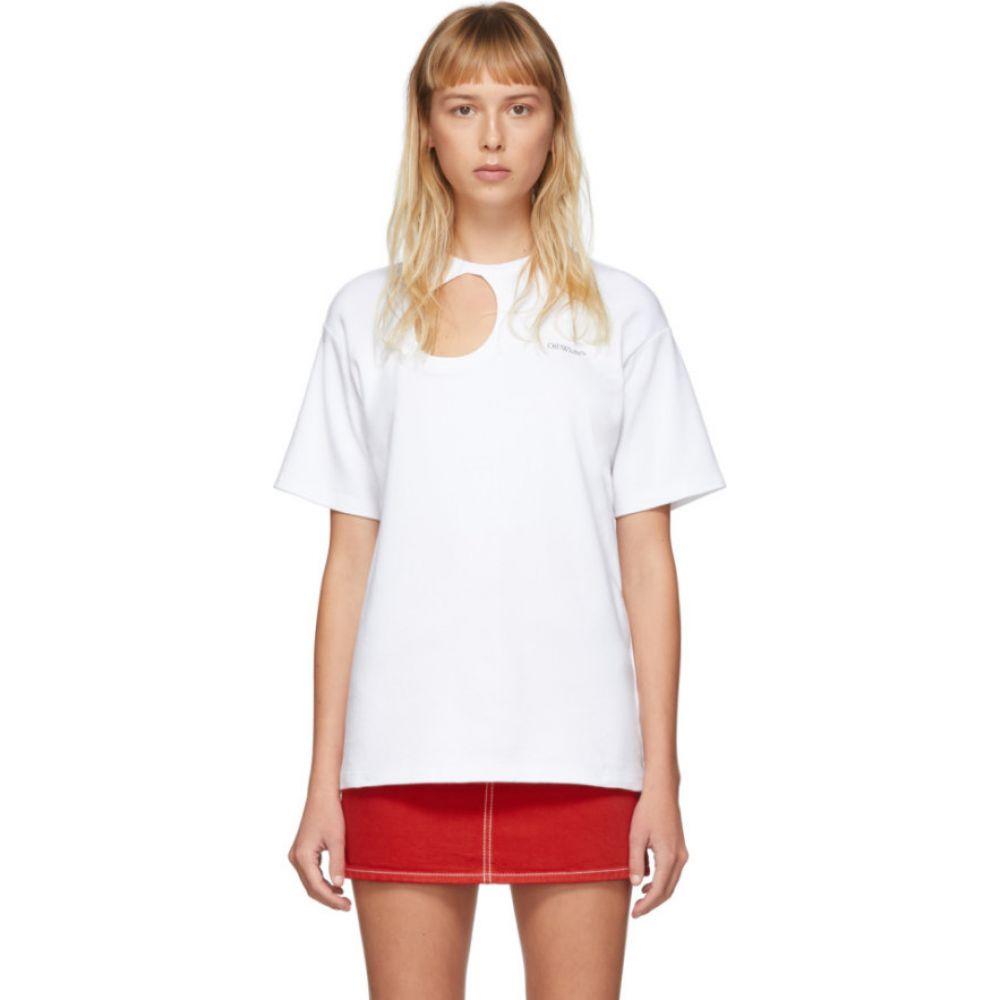 オフホワイト Off-White レディース Tシャツ トップス【White Meteor Tomboy T-Shirt】White