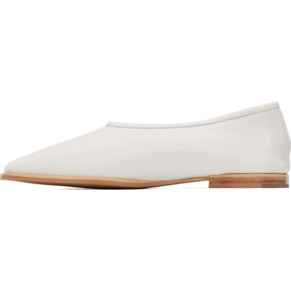 ロウ クラシック Low Classic レディース ローファー・オックスフォード スクエアトゥ シューズ・靴 White Square Toe Flat Loafer WhiteTK13cFlJ