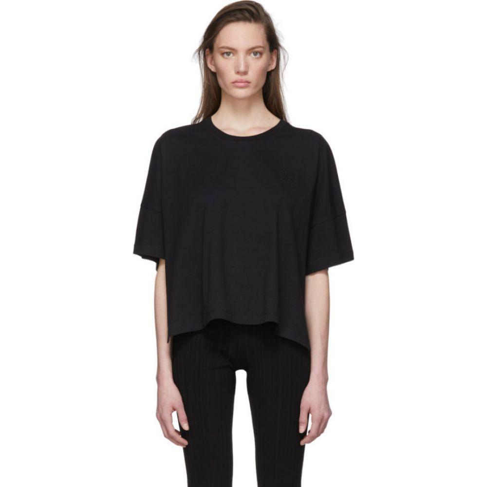 ロエベ Loewe レディース Tシャツ トップス Black Oversize Anagram T Shirt BlacknwOP0kX8