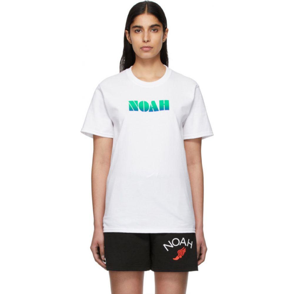 ノア Noah NYC レディース Tシャツ トップス【White Gradient Logo T-Shirt】White