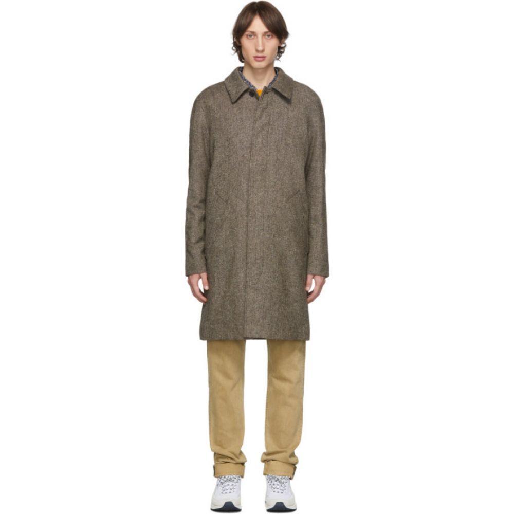 アーペーセー A.P.C. メンズ コート アウター【Brown Portobello Mac Coat】Marron