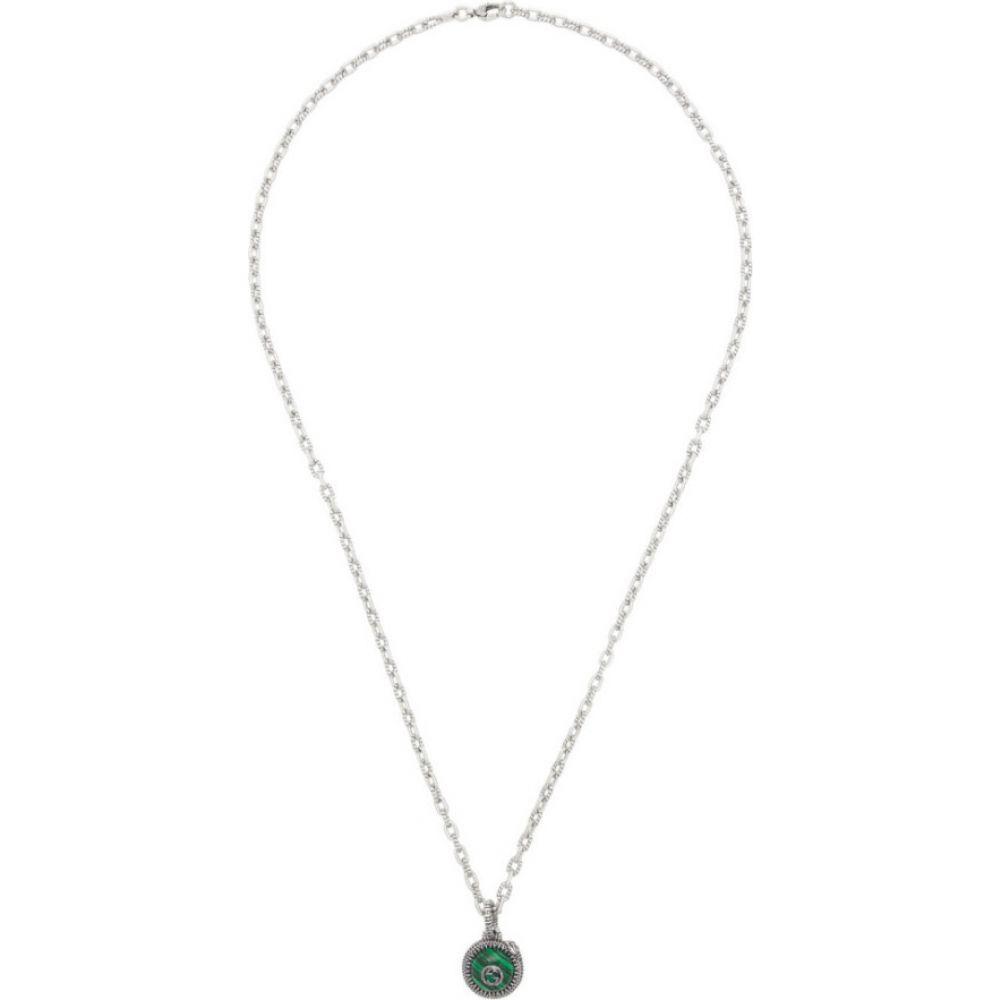 グッチ Gucci メンズ ネックレス ジュエリー・アクセサリー【Silver & Green ' Garden' Necklace】Silver/Green