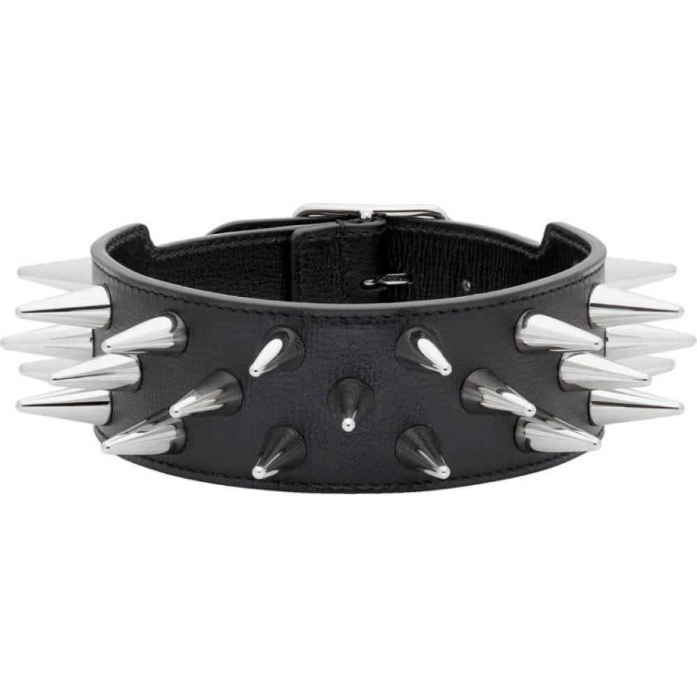 グッチ Gucci メンズ ネックレス チョーカー ジュエリー・アクセサリー【Black Leather Studded Choker】Black