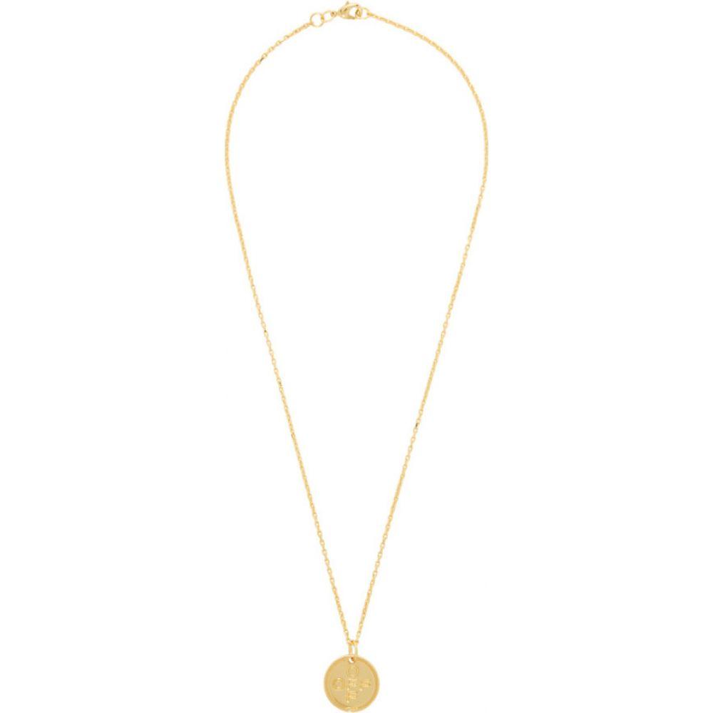 オフホワイト Off-White メンズ ネックレス ジュエリー・アクセサリー【Gold Small Logo Cross Necklace】