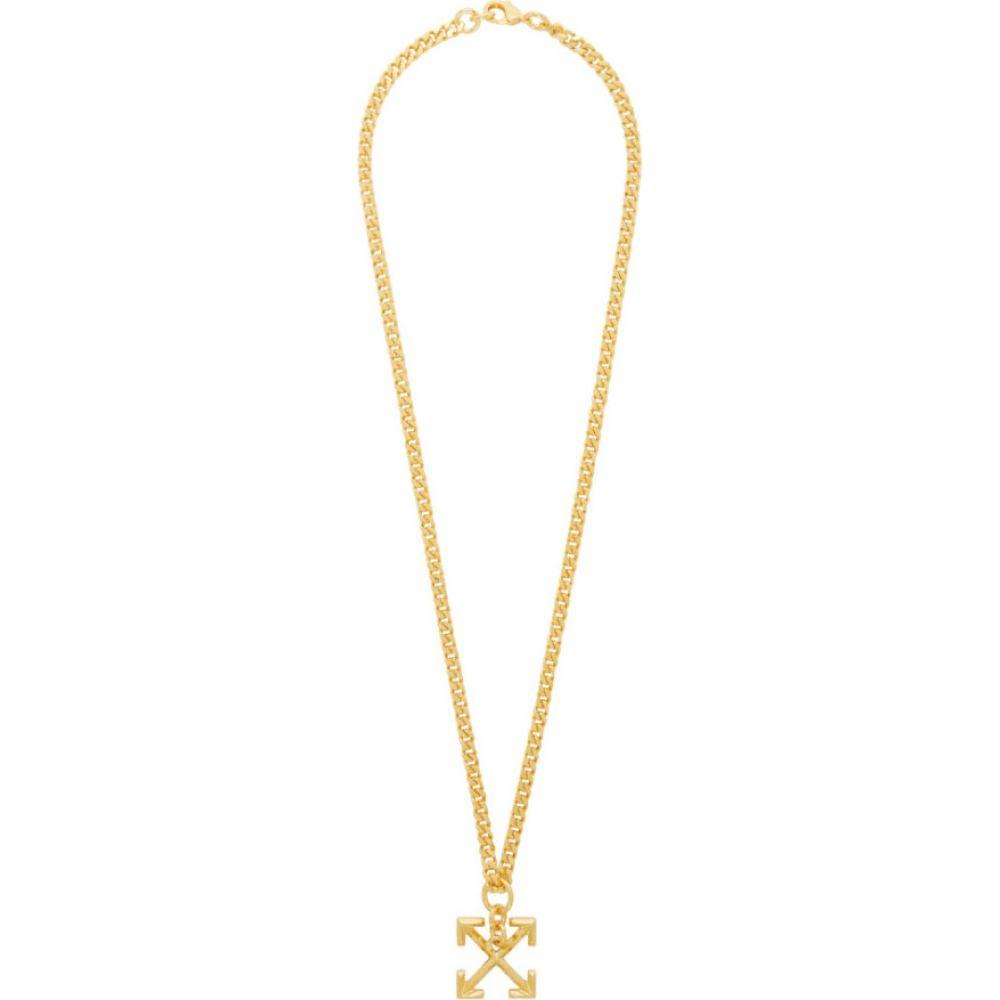 オフホワイト Off-White メンズ ネックレス ジュエリー・アクセサリー【Gold Arrow Necklace】