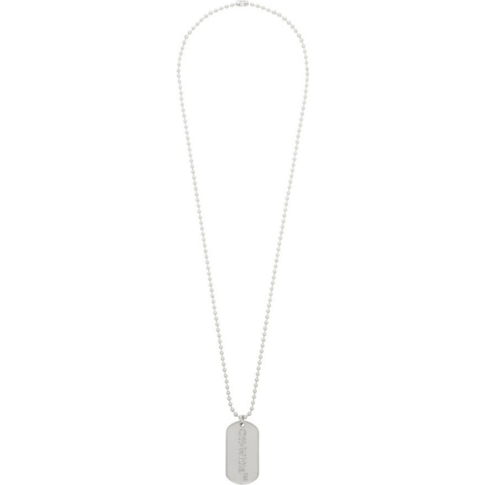 オフホワイト Off-White メンズ ネックレス ドッグタグ ジュエリー・アクセサリー【SSENSE Exclusive Logo Dog Tag Necklace】