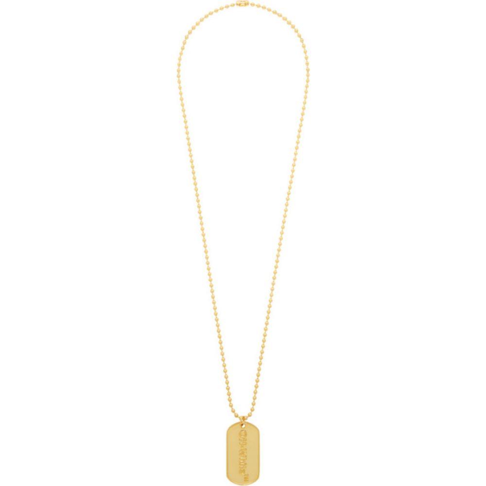 オフホワイト Off-White メンズ ネックレス ドッグタグ ジュエリー・アクセサリー【SSENSE Exclusive Gold Logo Dog Tag Necklace】