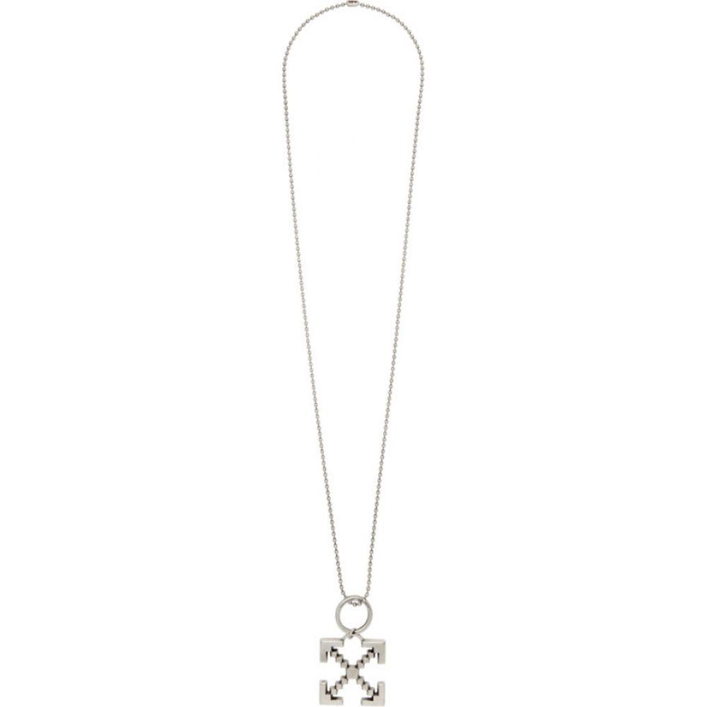 オフホワイト Off-White メンズ ネックレス ジュエリー・アクセサリー【Silver Arrows Scaffolding Necklace】Silver