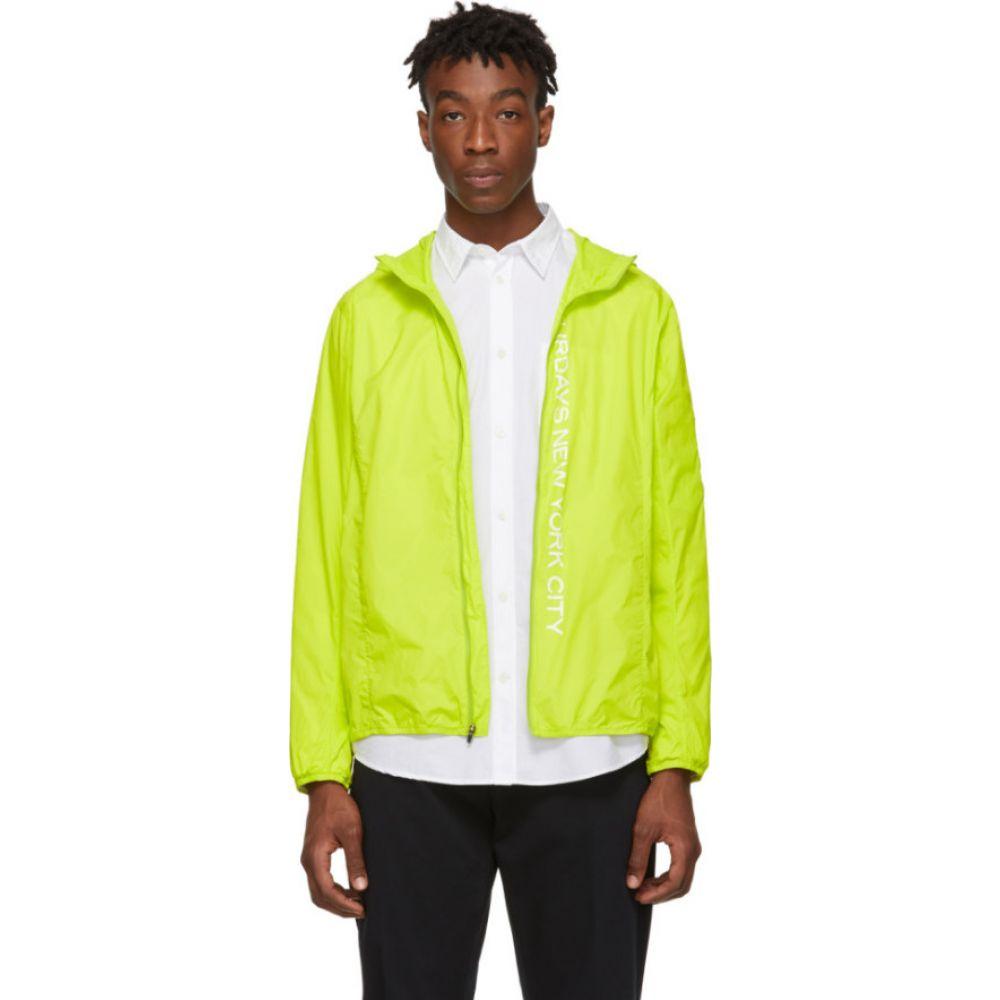 サタデーニューヨーク Saturdays NYC メンズ ジャケット ウィンドブレーカー アウター【Green Packable Tatsu Windbreaker Jacket】Chartreuse