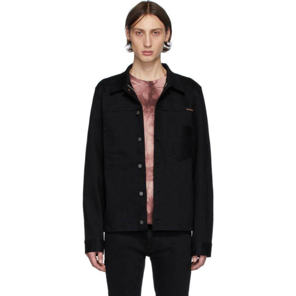 ヌーディージーンズ Nudie Jeans メンズ ジャケット アウター【Black Ronny Jacket】Dry black selvage