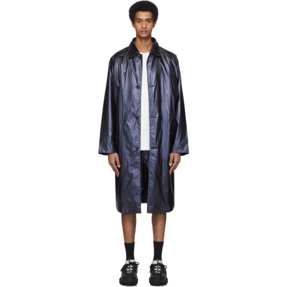 ロバートゲラー Robert Geller メンズ コート アウター【Blue 'The Shiny' Coat】Dark blue