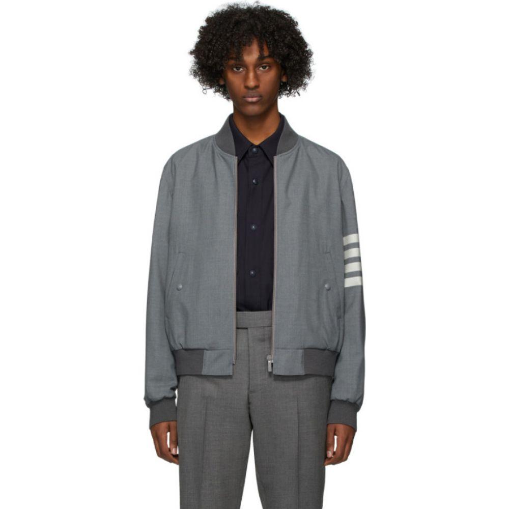 トム ブラウン Thom Browne メンズ ブルゾン ミリタリージャケット アウター【Grey Engineered Blouson Bomber Jacket】Medium grey