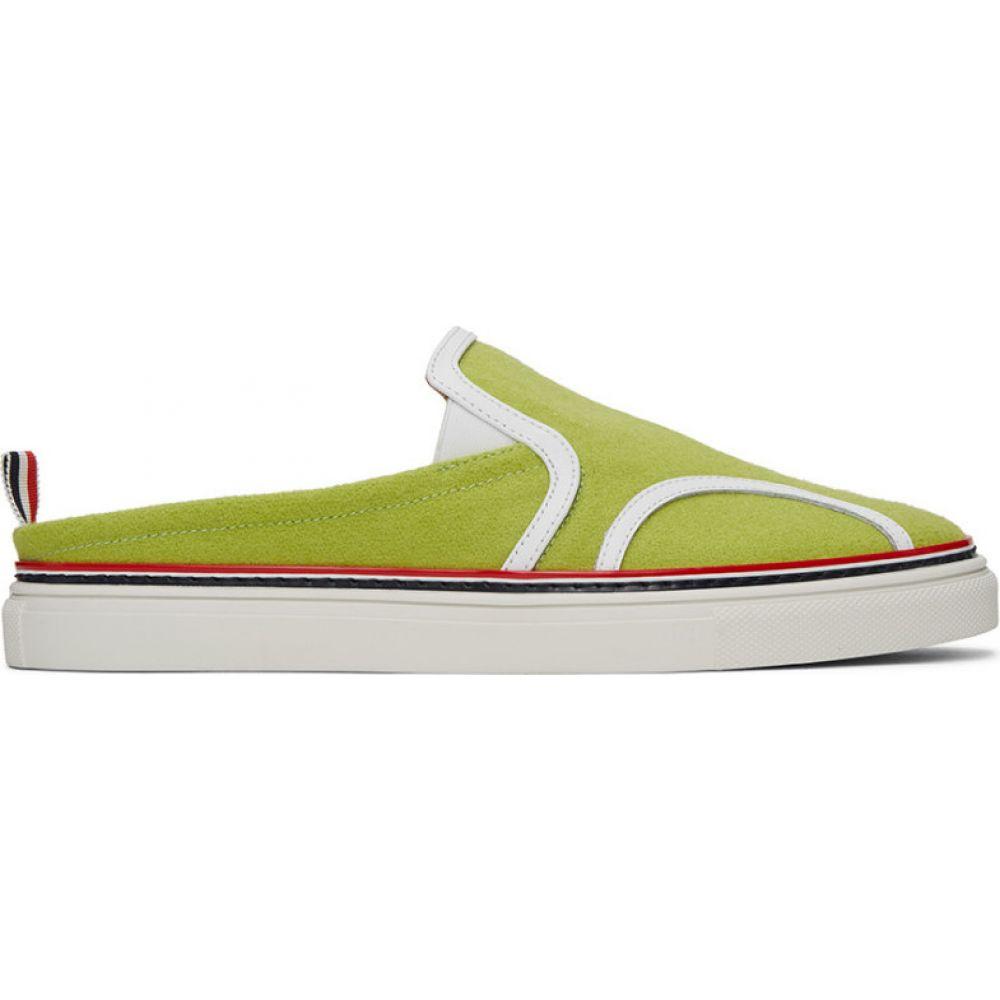 トム ブラウン Thom Browne メンズ ローファー シューズ・靴【Yellow Flannel Slip-On Loafers】Yellow