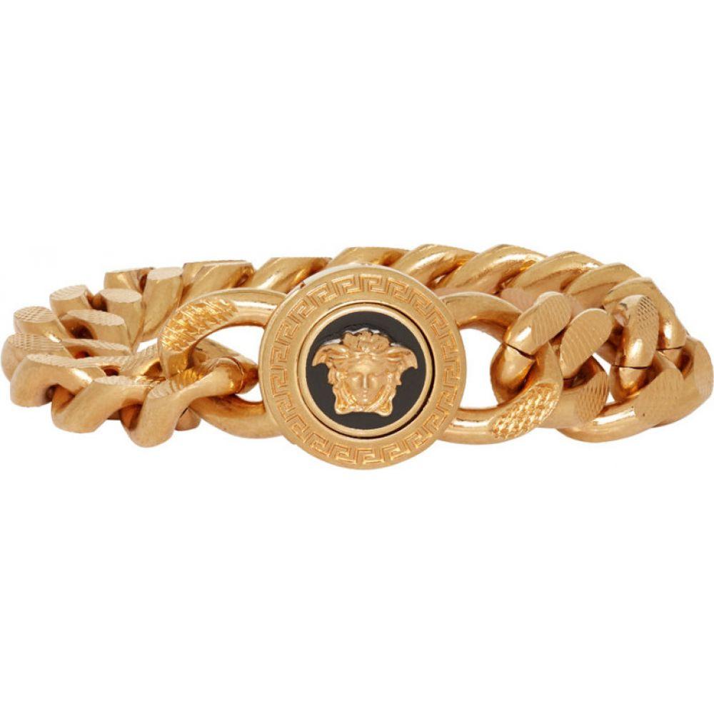 ヴェルサーチ Versace メンズ ブレスレット メデューサ ジュエリー・アクセサリー【Gold Chain Medusa Bracelet】Gold
