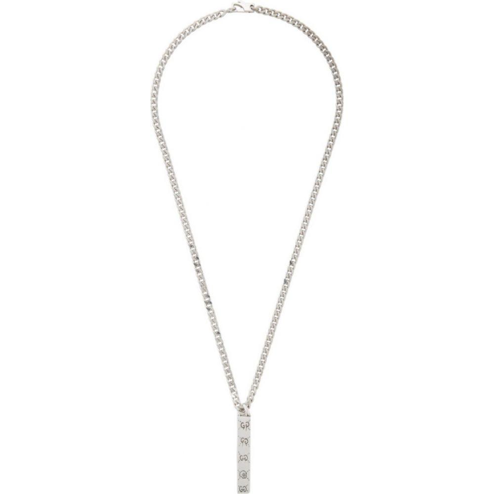 グッチ Gucci メンズ ネックレス ジュエリー・アクセサリー【Silver Ghost Bar Necklace】Silver