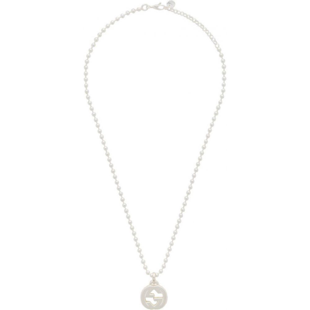 グッチ Gucci メンズ ネックレス ジュエリー・アクセサリー【Silver Interlocking G Necklace】Silver
