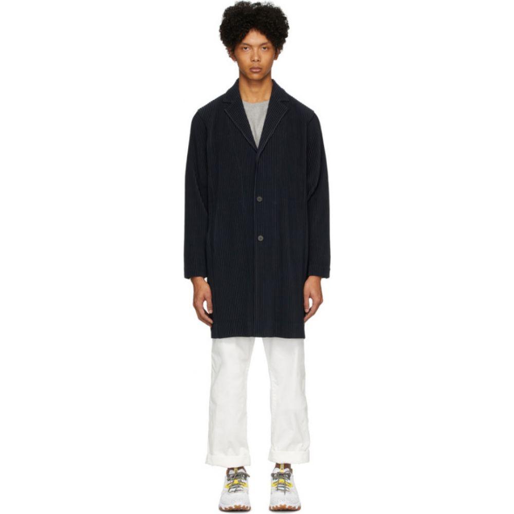 イッセイ ミヤケ Homme Plisse Issey Miyake メンズ コート アウター【Navy Basics Coat】Navy