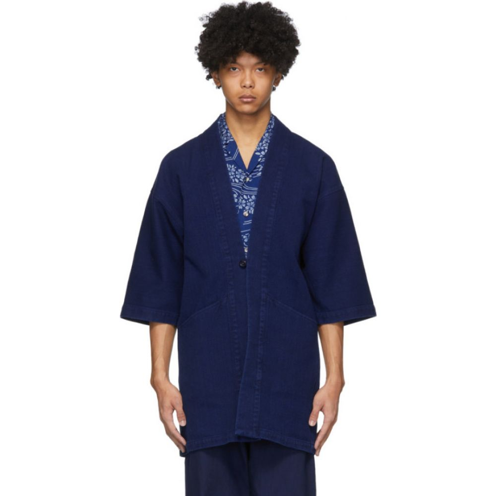 ブルーブルージャパン Blue Blue Japan メンズ ジャケット アウター【Blue Sashiko Hanten Jacket】Indigo