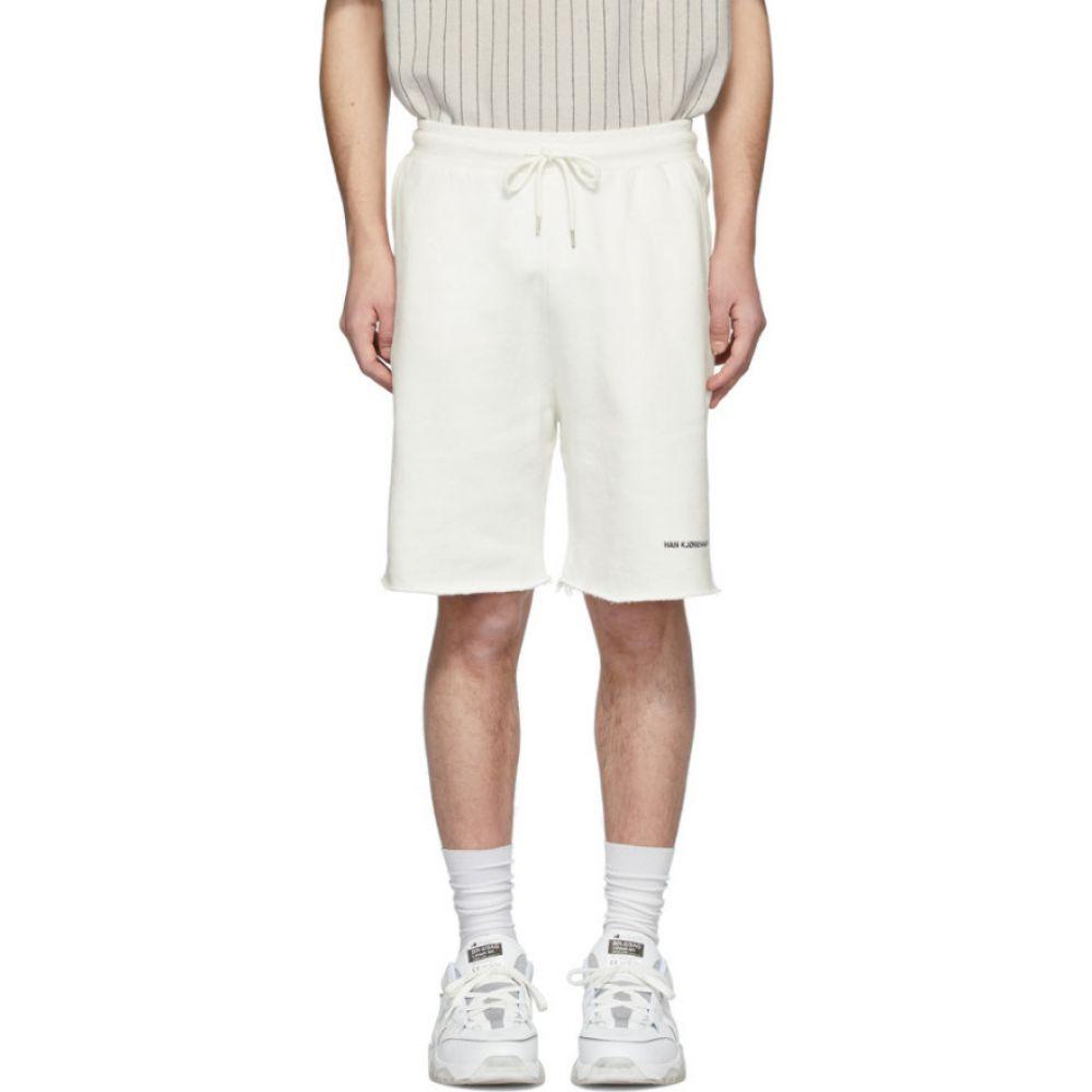 ハン コペンハーゲン Han Kjobenhavn メンズ ショートパンツ ボトムス・パンツ【Off-White Sweat Shorts】Off-white