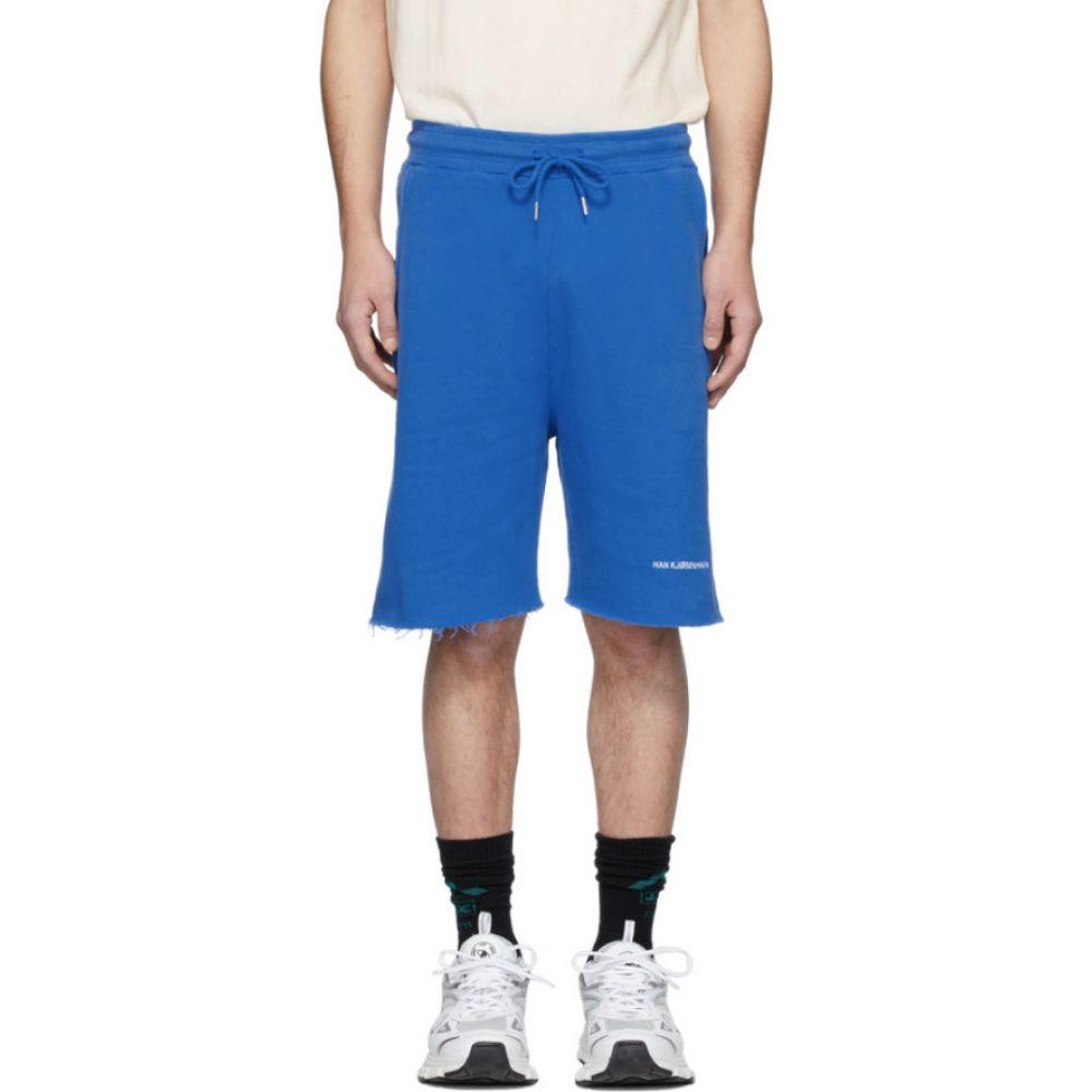 ハン コペンハーゲン Han Kjobenhavn メンズ ショートパンツ ボトムス・パンツ【Blue Sweat Shorts】Blue
