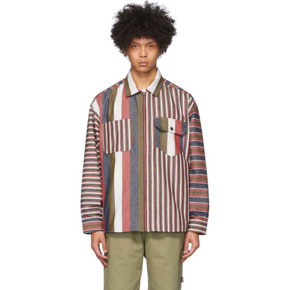 マーティン ローズ NAPA by Martine Rose メンズ ジャケット アウター【Multicolor Striped Zip Jacket】Red stripe