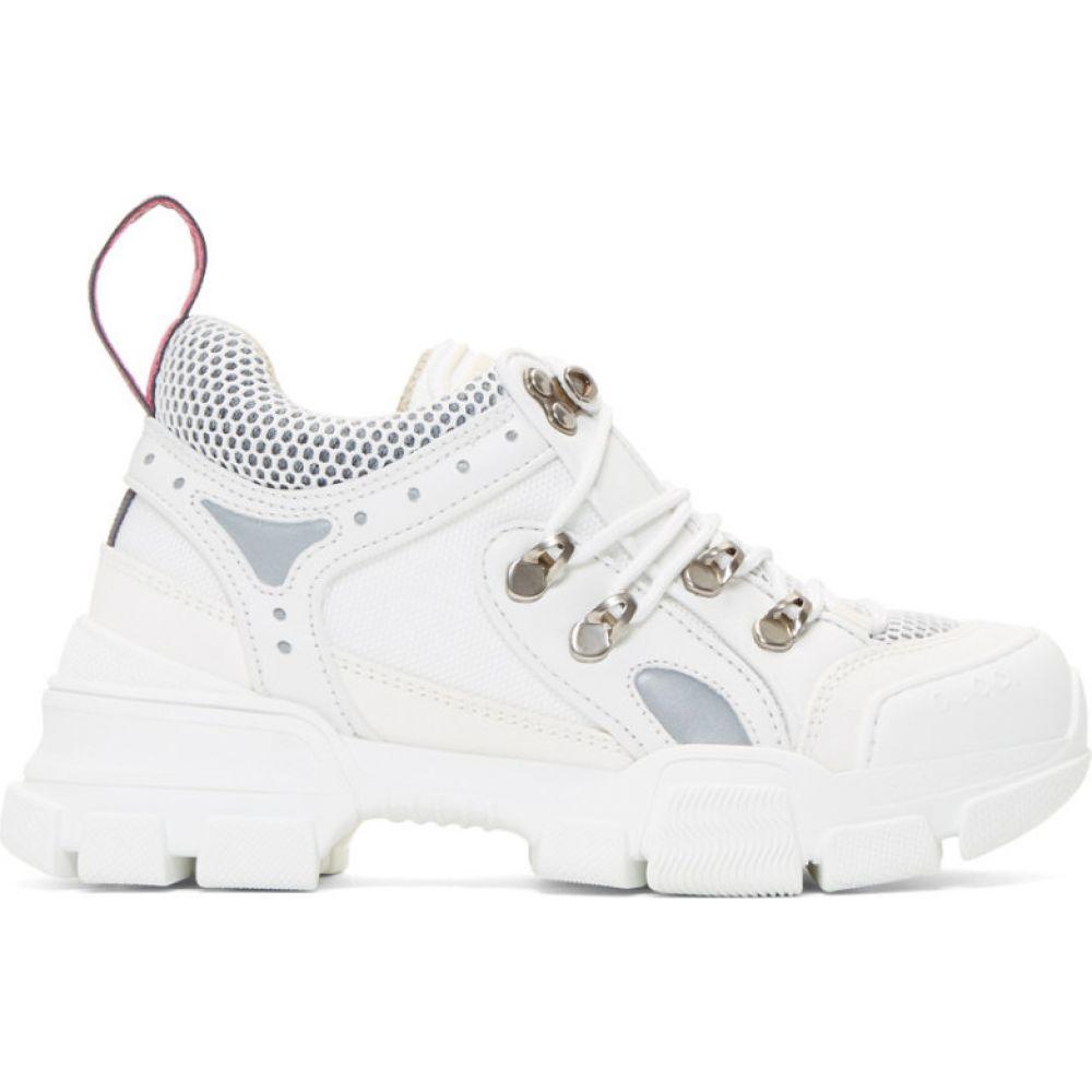 グッチ Gucci レディース スニーカー チャンキーヒール シューズ・靴【White Flashtrek Chunky Sneakers】