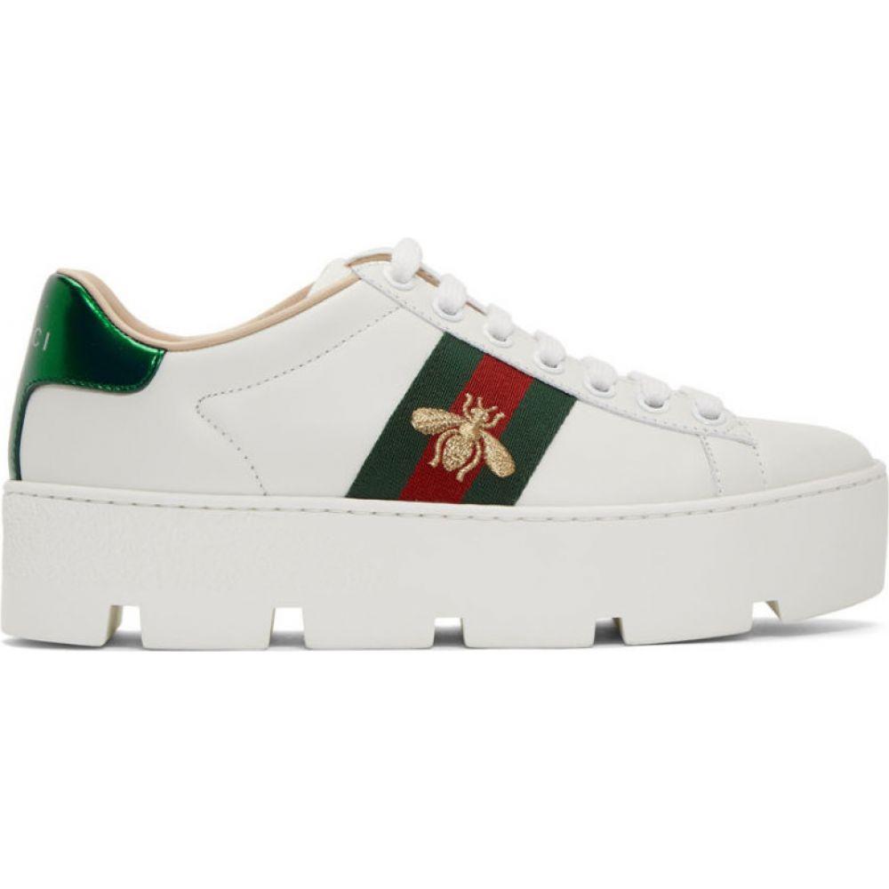 グッチ Gucci レディース スニーカー シューズ・靴【White Ace Platform Sneakers】White