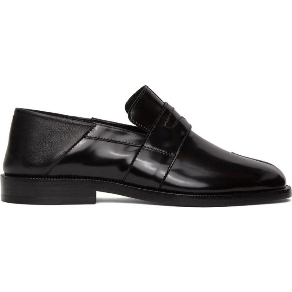メゾン マルジェラ Maison Margiela レディース ローファー・オックスフォード シューズ・靴【Black Tabi Crush Heel Loafers】Black