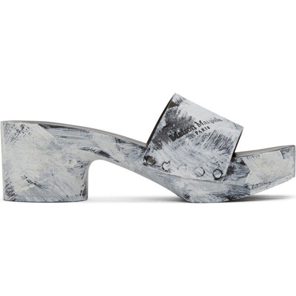 メゾン マルジェラ Maison Margiela レディース サンダル・ミュール シューズ・靴【Black Painted Tabi Slip-On Heeled Sandals】Black