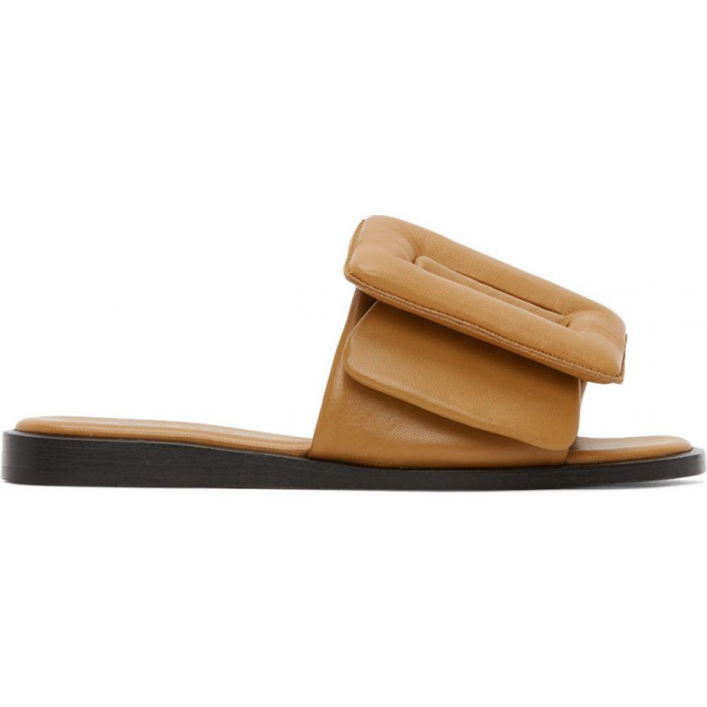 ボーイ BOYY レディース サンダル・ミュール シューズ・靴【Tan Puffy Buckle Sandals】Tan