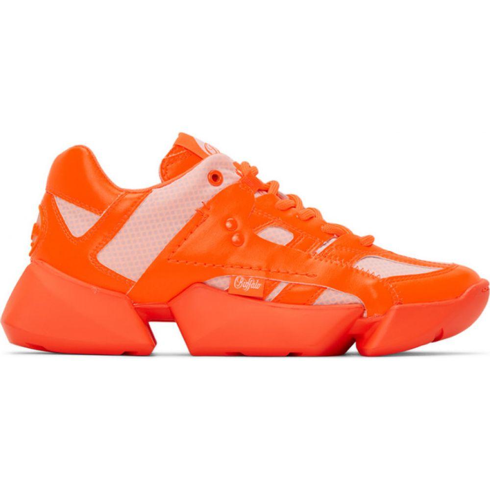 ジュンヤ ワタナベ Junya Watanabe レディース スニーカー シューズ・靴【Orange Buffalo London Edition Synthetic Leather Sneakers】Neon orange