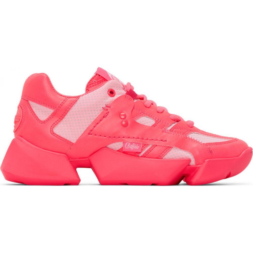 ジュンヤ ワタナベ Junya Watanabe レディース スニーカー シューズ・靴【Pink Buffalo London Edition Synthetic Leather Sneakers】Neon pink