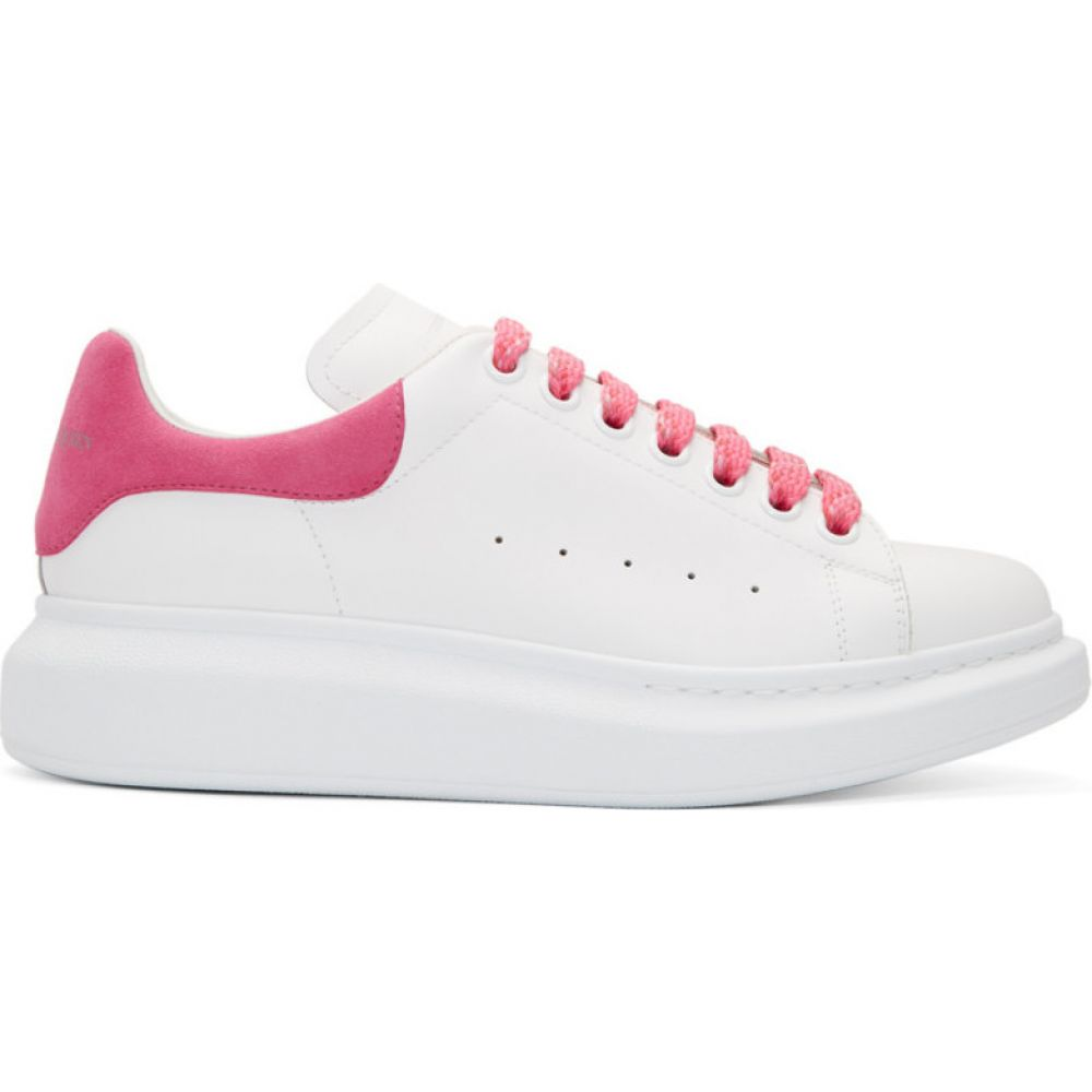 アレキサンダー マックイーン Alexander McQueen レディース スニーカー シューズ・靴【White & Pink Oversized Sneakers】Fuchsia