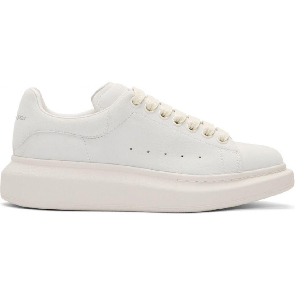 アレキサンダー マックイーン Alexander McQueen レディース スニーカー シューズ・靴【Grey Suede Oversized Sneakers】Ivory