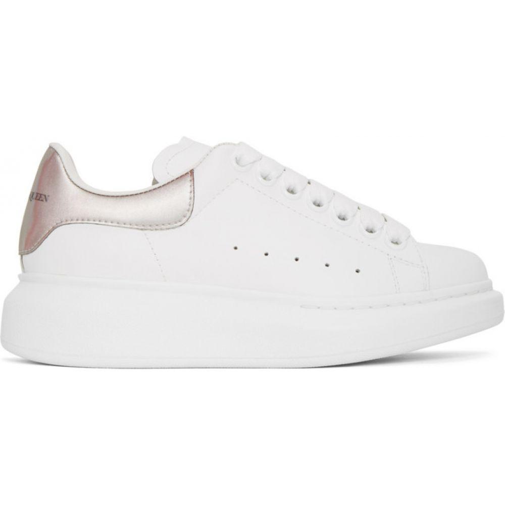 アレキサンダー マックイーン Alexander McQueen レディース スニーカー シューズ・靴【White & Iridescent Oversized Sneakers】White/Gold