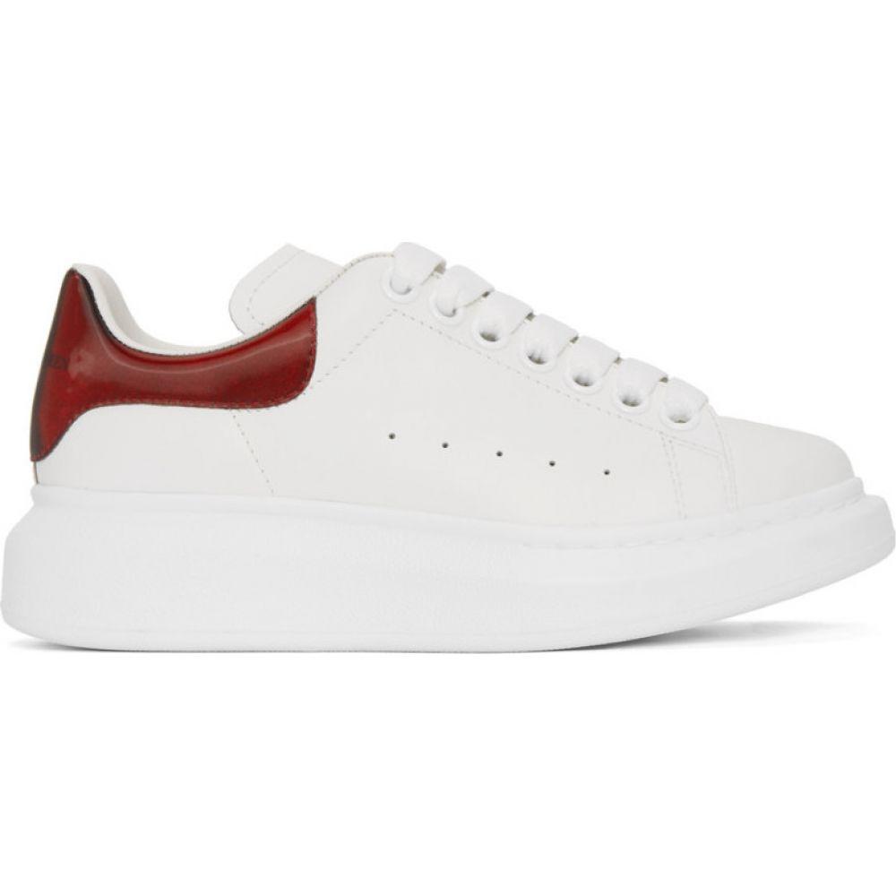 アレキサンダー マックイーン Alexander McQueen レディース スニーカー シューズ・靴【White & Red Iridescent Oversized Sneakers】White/Red