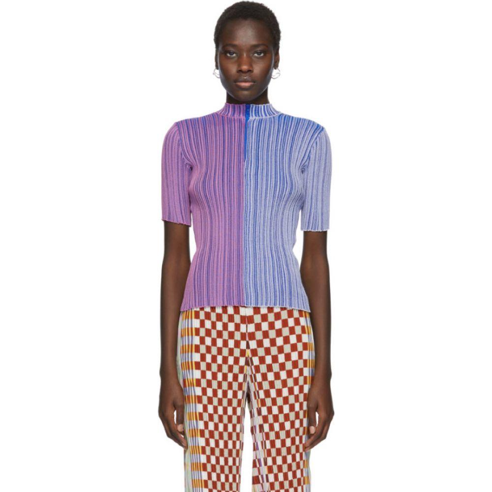 ユリア ホイアー Julia Heuer レディース Tシャツ トップス【Pink & Blue Knit Ginger T-Shirt】Color