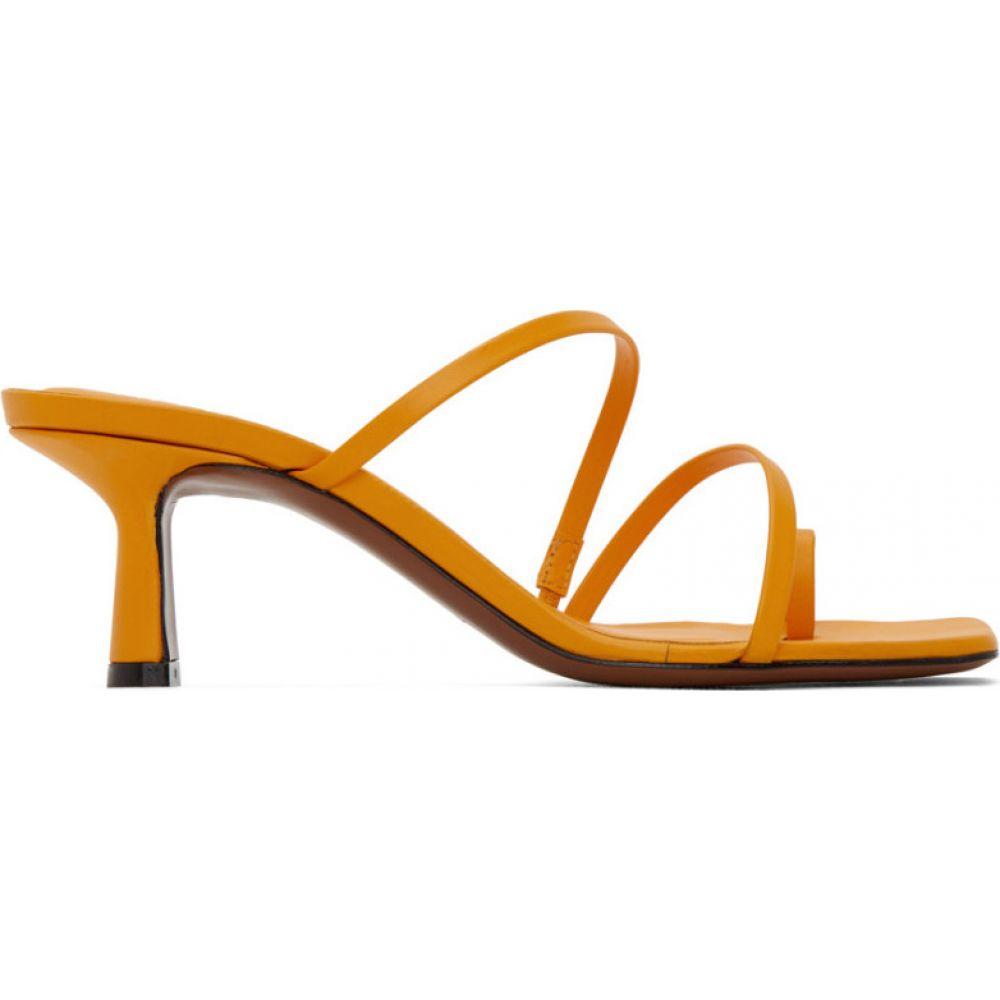 ネオアス NEOUS レディース サンダル・ミュール シューズ・靴【Yellow Erandra 55MM Heeled Sandals】Mustard