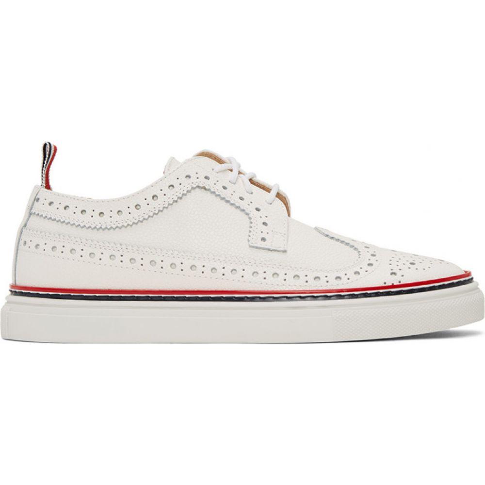 トム ブラウン Thom Browne レディース スニーカー メダリオン シューズ・靴【White Longwing Brogue Sneakers】White